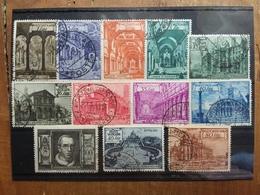 VATICANO 1949 - Basiliche - Serie Completa Timbrata + Spese Postali - Vaticaanstad