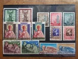 VATICANO - 6 Serie Complete Anni '50 - Timbrati + Spese Postali - Vaticaanstad