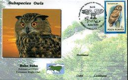 Entiere Speciale, Roumanie, 2014, Oiseaux, Subspecies  Owls, Bubo Bubo - Owls