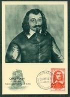 CM-Carte Maximum Card # 1956-FRANCE # Célébrités #Samuel De  Champlain, Colonisateur,Fondateur De Québec , - Maximumkarten