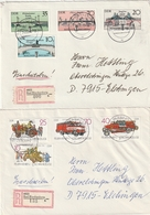 DDR / 1985 Ff. / 2 Reco-Briefe Ex Bad Blankenburg (BG17) - Cartas