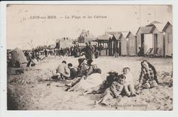 LION SUR MER - CALVADOS - LA PLAGE ET LES CABINES - France
