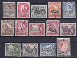 K.U.T. 1954, SG# 167-180, CV £32, Wild Animals, Used - Kenya, Uganda & Tanganyika