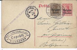 10 Centimes-postkaart Met BZ 11 - Afstempeling MAUBEUGE (FRANKREICH) / BOUFFIOULX - Guerre 14-18