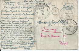 Fantasiekaart Verstuurd Van Rosoux-Goyer Naar Brussel , Doorgestuurd Naar Diest Via LP 7 (1922) - Armée Belge