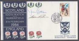 GB Scottish Rugby Union 1984 Cover Signed Jim Aitken & Adam Robson - 1952-.... (Elizabeth II)