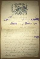 Lettre à En-tête Du 153e Régiment D'Infanterie De Woesten (Flandre Occidentale) De 1915 WW1 1ere Guerre Mondiale - Historical Documents