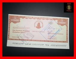ZIMBABWE 100.000  100000 $  2003  Travellers Cheque    P. 20  UNC - Simbabwe