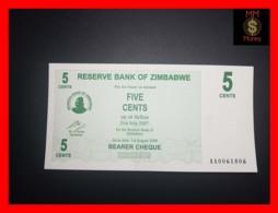 ZIMBABWE 5 Cents  1.8.2006  P. 34  UNC - Simbabwe