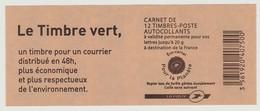 FRANCE - CARNET N° 604 C1 - NEUF** NON PLIE - Marianne De BEAUJARD - Variante Date En Haut à Gauche - - Carnets