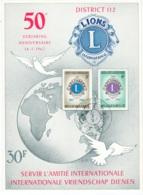 BELGIE    1404/05  LIONS CLUB - Cartes Souvenir