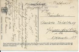 Feldpostkaart Met Stempel Pfadfinderabteilung Kommandatur Brüssel Naar Duitsland - Weltkrieg 1914-18