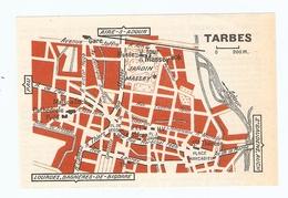 CARTE PLAN 1960 - TARBES - MAISON FOCH TOUR MASSEY MUSÉE - Mapas Topográficas