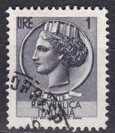 Repubblica Italiana, 1968 - 1 Lira Siracusana, Fluorescente - Nr.1067 Usato° - 1946-.. Republiek