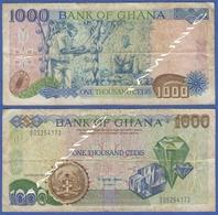 GHANA 1000 CEDIS 1991 JEWELS - Ghana