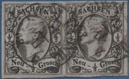 Sachsen, Saxony Germany, 1855 ½ Ngr- Paar Cancelled 2005.1525 - Saxony