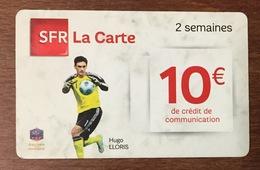 SFR LA CARTE HUGO LLORIS 10 EUROS FOOTBALL RECHARGE GSM DU 08/06 CARTE PRÉPAYÉE PHONECARD PREPAID - Frankreich