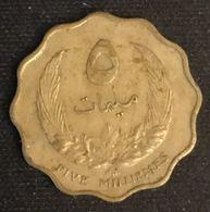 LIBYE - LIBYA - 5 MILLIEMES 1965 ( 1385 ) - KM 7 - ( Idris I ) - Libye