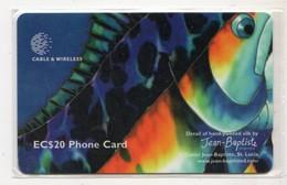 SAINTE LUCIE REF MV CARDS STL-321C BLUE FISH Année 1999 20$ 321CSLC - St. Lucia
