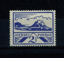 Ref 1354 - WWII Channel Islands - Jersey 1943 SG 7 - 2 1/2d Mint Stamp - Jersey