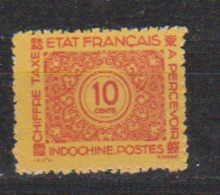 INDOCHINE   N°  YVERT  :  TAXE  80    NEUF AVEC  CHARNIERES      ( Ch  3 / 16 ) - Timbres-taxe