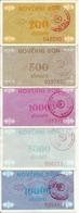 BOSNIE-HERZEGOVINE 200-500-1000-5000-10000 DINARA ND1992 VF P 48-49-50-51-52 ( 5 Billets ) - Bosnia Y Herzegovina