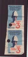 """Ticket D'entrée """" Exposition Coloniale Internationale Colonies Et Pays D'outre-mer """" Paris 1931 - Toegangskaarten"""