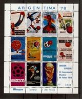 Argentine 1978 - Mondial De Football, Coupe Du Monde - Bloc MNH De 12 Vignettes - Erinnophilie