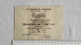 Kleine Urkunde Reichsbund Für Leibesübungen Alterwetturnen 1941 Grevenbroich Bereich Niederrhein Sport - 1939-45