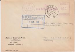 DDR Dienst B ZKD Freistempel Bf Rat Bezirk Gera Thüringen 1966 - Servizio