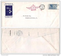 CAS14502 Canada 1961 P.T.P.O. Wrigkey's Hotel Directory Airmail Cover Franking Bird W/ Slogan - Lettres & Documents