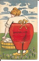 Carte à Système 1924 - Illustration: Lavandière, Bruxelles: Pas La Peine De T'en Faire, Ouvres Mon Coeur! Tu Verras - A Systèmes