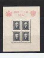 Pologne 1937 Yvert BF 4 ** Neuf Sans Charnière Visite Roi Carol De Roumanie. - Blocks & Sheetlets & Panes