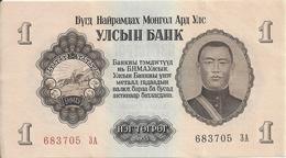 MONGOLIE 1 TUGRIK 1955 AUNC P 28 - Mongolia