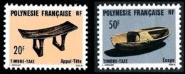 POLYNESIE 1987 - Yv. Taxe 8 Et 9 ** TB  Faciale= 0,59 EUR - Artisanat : Appui-tête Et Ecope  ..Réf.POL23322 - Timbres-taxe