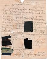 1833 Toulouse L.A.S. BERRENS Avec ECHANTILLONS De Gros De Naples Unis à M. MAGNILLAT De LYON Fabricant De - Documents Historiques