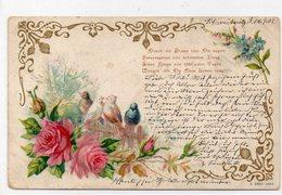 DC1747 - Motiv Motivkarte Vögel 1901 Blumen Kunst - Uccelli