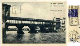 BASSANO DEL GRAPPA  VICENZA  Ponte Vecchio Annullo Targhetta  Adunata Nazionale Alpini 1948 - Vicenza