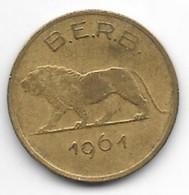 *belgian Congo Ruanda-burundi  1 Franc 1961  Km 1  Vf - 1951-1960: Baudouin I