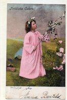 DC1752 - Fröhliche Ostern Mädchen Im Kleid - Pasqua