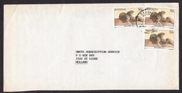 Botswana: Cover To Netherlands, 1989, 3 Stamps, Rock Dassie Animal, Baby Animal (minor Discolouring) - Botswana (1966-...)