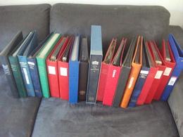 Lot De 43 Albums Philatéliques Vides Rangement Enveloppes Et Cartes Premier Jour Carte Maximum FDC Philatélie Feuilles - Bindwerk Met Pagina's