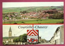 57. Courcelles - Chaussy. Vue Générale. Eglise St. Remi. Avenue Général De Gaulle. Blason. 1987 - Frankreich