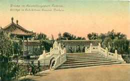 Cpa TIANJIN - TIENSIN - Bridge In Exhibition Ground - Brücke Im Ausstellungspark - China