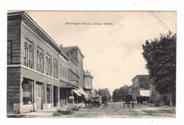 LADOGA, Indiana, USA, Washington Street & Stores, 1911 Postcard - Andere
