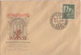 ALLEMAGNE BERLIN YT N°93 OBLITERE SEUL SUR LETTRE PREMIER JOUR (FDC) ILLUSTREE - Lettres & Documents