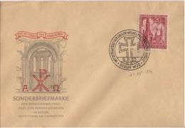 ALLEMAGNE BERLIN YT N°94 OBLITERE SEUL SUR LETTRE PREMIER JOUR (FDC) ILLUSTREE - Lettres & Documents