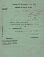 1874 TRAVAUX De PARIS - Bureau Des ALIGNEMENTS - Droit De Petite Voirie M. SARRAZIN 38, Rue Turbigo 3° - Documents Historiques