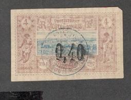 FRENCH SOMALI COAST....1899:Yvert 22used Cat,Value45Euros (upper Right Corner Short) - Costa Francese Dei Somali (1894-1967)