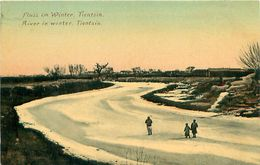 Cpa TIANJIN - TIENSIN - River In Winter - Fluss Im Winter - China
